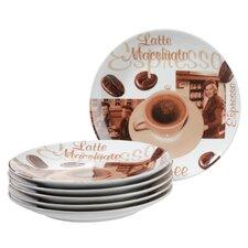 Desserttellerset Orto aus Porzellan (Set beinhaltet 6)