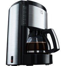 """1,25L Kaffeeautomat """"Look De Luxe"""" in Schwarz / Edelstahl"""