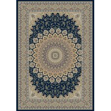 Ancient Garden Navy Persian Rug