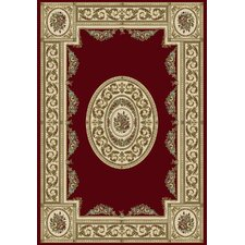 Ancient Garden Red / Ivory Persian Rug