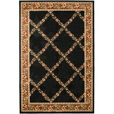Yazd Black / Brown Oriental Rug