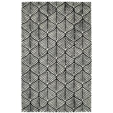 Palace Black / White Geometric Rug