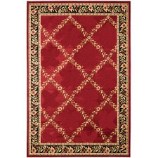 Yazd Red Geometric Rug