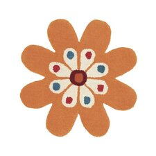 Fantasia Flower Gold Kids Rug