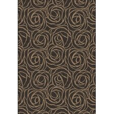 Eclipse Rosebuds Brown Rug
