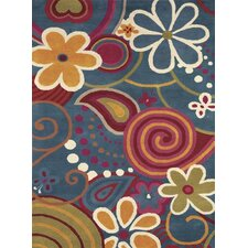 Fantasia Fan Girls Blue Kids Rug
