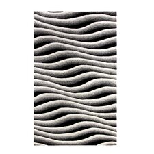 Aria Ivory/Black Wave Rug