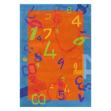 <strong>Dynamic Rugs</strong> Fantasia Number Orange/Blue Kids Rug