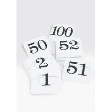 Iron 1-50 Number Cards for Wire Stand (Set of 2)