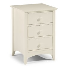 Tulipa 3 Drawer Bedside Table