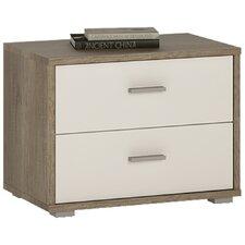 Clarkia 2 Drawer Bedside Table