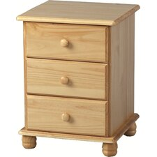 Aster 3 Drawer Bedside Table