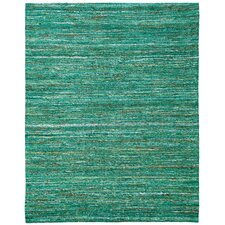 Emerald Saree Green Area Rug