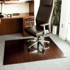 Deluxe Bamboo Office Chairmat, Rectangular