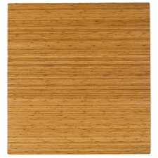 Standard Bamboo Rectangular Office Chair Mat