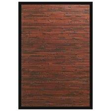 Cobblestone Mahogany Bamboo Area Rug