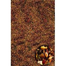 Elementz Starburst Red/Brown Area Rug