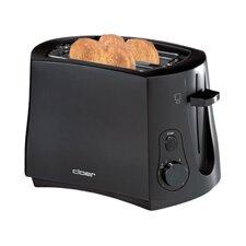 Toaster 2 Scheiben in Schwarz mit Brötchenaufsatz