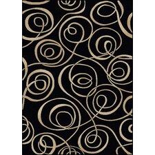 Vesuvio Black Swirl Rug
