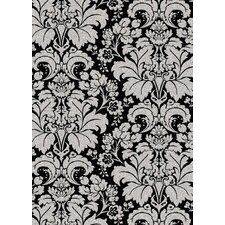 Bella Damask Black/Silver Rug