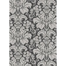 Bella Damask Grey/Silver Rug