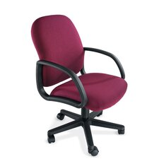 Durable Mid-Back Office Chair with Arms