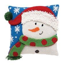 Snowman 3D Hooked Pillow