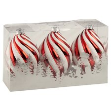 Swirl Finial Boxed Ornament (Set of 3)