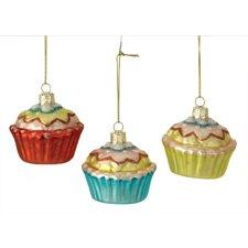 Cupcake Ornament (Set of 3)