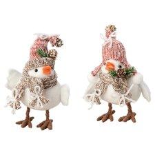 2 Piece Agentha & Anni Birds Holiday Decoration Set