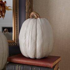 Tall Stoneware Pumpkin Sculpture