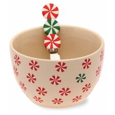 Holiday Peppermint Condiment Server
