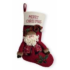 "15.5"" Merry Christmas Santa Stocking"
