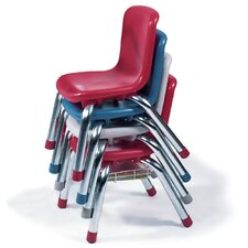 "12"" Armless Classroom Stacking Chair"