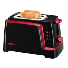 820W Toaster in Schwarz / Rot-Metallic