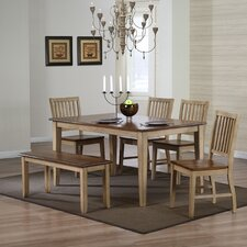 <strong>Sunset Trading</strong> Brookdale 6 Piece Dining Set