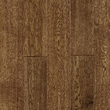 "Gatsby Hand-Sculpted 5"" Solid White Oak Flooring in Antique Brown"
