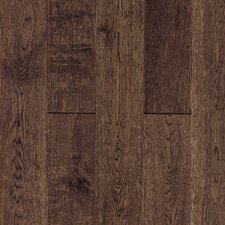"Gatsby Hand-Sculpted 5"" Solid White Oak Flooring in Vintage Brown"