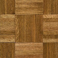 "Urethane Parquet 12"" Solid Oak Flooring in Tawney Spice"