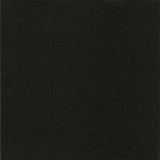 "Alterna Solid 16"" x 16"" Vinyl Tile in Betcha Black"