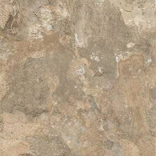 "Alterna Mesa Stone 16"" x 16"" Vinyl Tile in Beige"