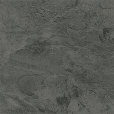 "Alterna Mesa Stone 16"" x 16"" Vinyl Tile in Charcoal"