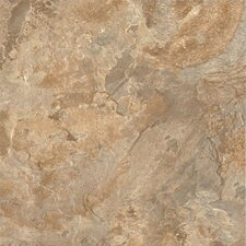 "Alterna Mesa Stone 16"" x 16"" Vinyl Tile in Terracotta/Clay"