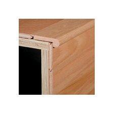 "0.25"" x 2.75"" Red Oak Stair Nose in Gunstock"