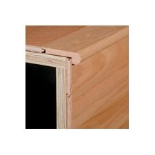 "0.38"" x 2.75"" Red Oak Stair Nose in Rock Rose"