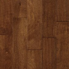 "Century Farm Hand-Sculpted 5"" Engineered Birch Flooring in Cobbler Brown"