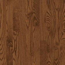 "Dundee Wide Plank 5"" Solid Red Oak Flooring in Saddle"