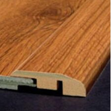 Laminate Reducer Strip with Track in Chestnut