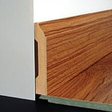 Laminate Wall Base Bevel Trim in Colonial Oak Honey, Provincial Oak Amber, Acacia Torres