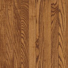 "Bristol 2-1/4"" Solid Red/White Oak Flooring in Gunstock"